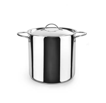 Deep stockpot with lid