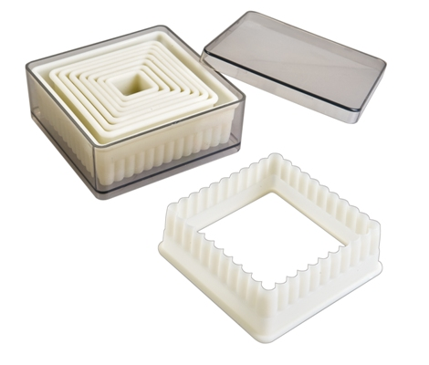 Square flutted dough cutters