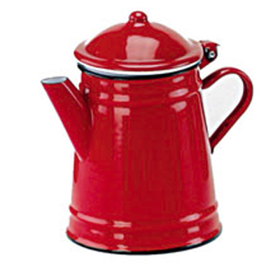 Conical coffee pot